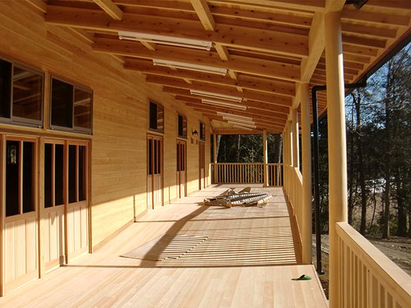 保育園新築工事 廊下